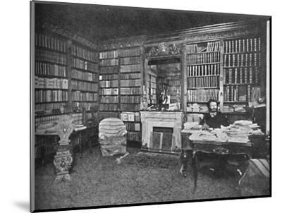 'Camille Flammarion - The Distinguished Astronomer Among His Books', c1925-Unknown-Mounted Photographic Print