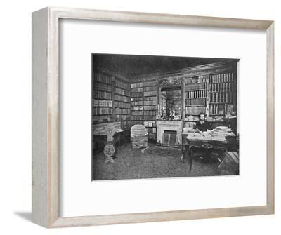 'Camille Flammarion - The Distinguished Astronomer Among His Books', c1925-Unknown-Framed Photographic Print