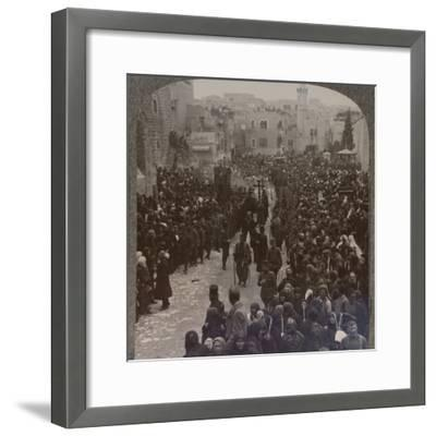 'Christmas procession in Bethlehem', c1900-Unknown-Framed Photographic Print