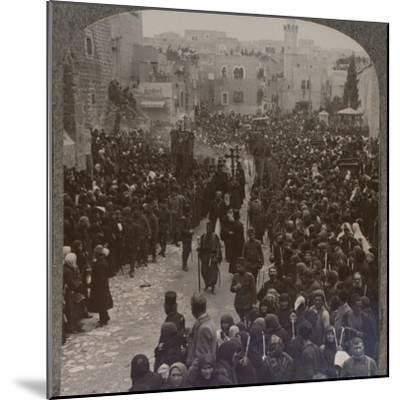 'Christmas procession in Bethlehem', c1900-Unknown-Mounted Photographic Print