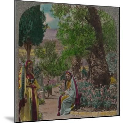 'In the Garden of Gethsemane', c1900-Unknown-Mounted Photographic Print