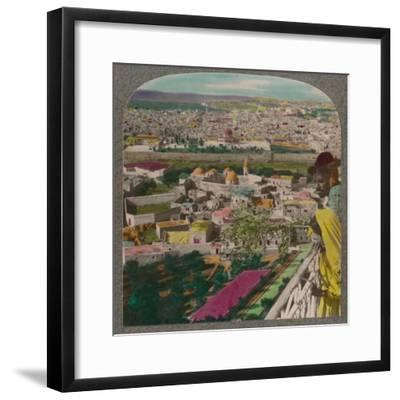 'Jerusalem from the Russian Church on Mount of Olives', c1900-Unknown-Framed Photographic Print