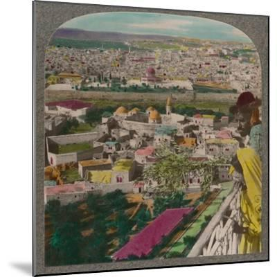 'Jerusalem from the Russian Church on Mount of Olives', c1900-Unknown-Mounted Photographic Print