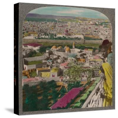 'Jerusalem from the Russian Church on Mount of Olives', c1900-Unknown-Stretched Canvas Print