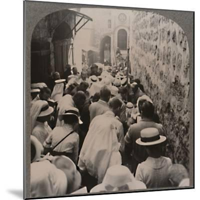 'The Via Dolorosa from the Tower of Antonio to the Church of the Holy Sepulchure', c1900-Unknown-Mounted Photographic Print