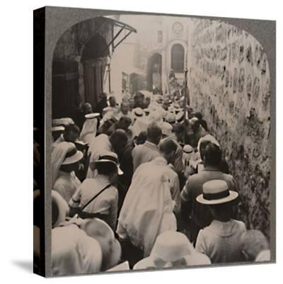 'The Via Dolorosa from the Tower of Antonio to the Church of the Holy Sepulchure', c1900-Unknown-Stretched Canvas Print