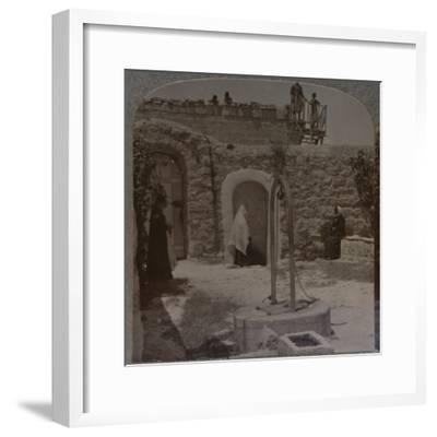 'David's well on the outskirts of Bethlehem', c1900-Unknown-Framed Photographic Print