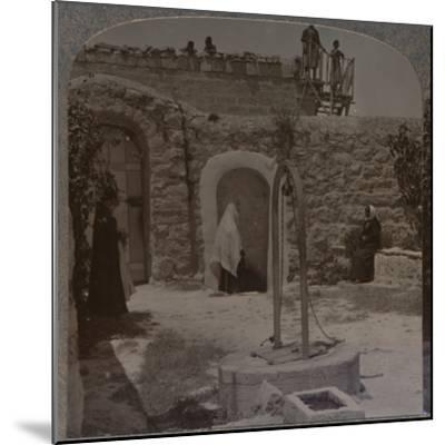 'David's well on the outskirts of Bethlehem', c1900-Unknown-Mounted Photographic Print