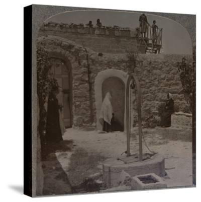 'David's well on the outskirts of Bethlehem', c1900-Unknown-Stretched Canvas Print