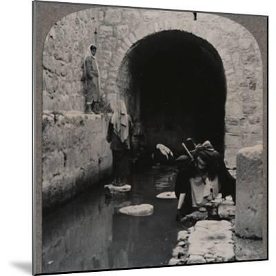 'Blind men washing eyes in the Pool of Siloam', c1900-Unknown-Mounted Photographic Print