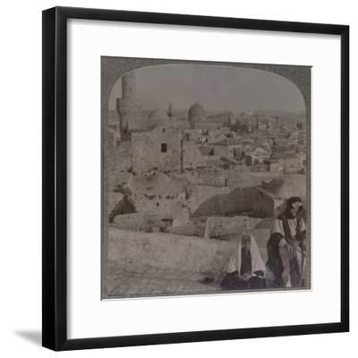 'Jerusalem from School over mosque, showing Tower of Antonio', c1900-Unknown-Framed Photographic Print