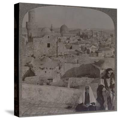 'Jerusalem from School over mosque, showing Tower of Antonio', c1900-Unknown-Stretched Canvas Print