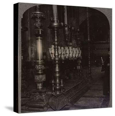 'The Stone of Annunciation in the Holy Sepulchure Church, Jerusalem', c1900-Unknown-Stretched Canvas Print