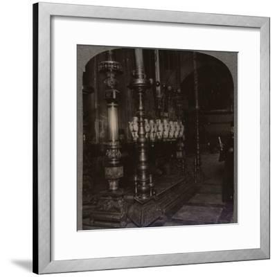 'The Stone of Annunciation in the Holy Sepulchure Church, Jerusalem', c1900-Unknown-Framed Photographic Print