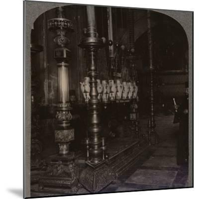 'The Stone of Annunciation in the Holy Sepulchure Church, Jerusalem', c1900-Unknown-Mounted Photographic Print