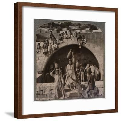 'The Fountain of the Virgin, Nazareth', c1900-Unknown-Framed Photographic Print
