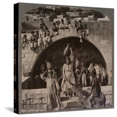 'The Fountain of the Virgin, Nazareth', c1900-Unknown-Stretched Canvas Print