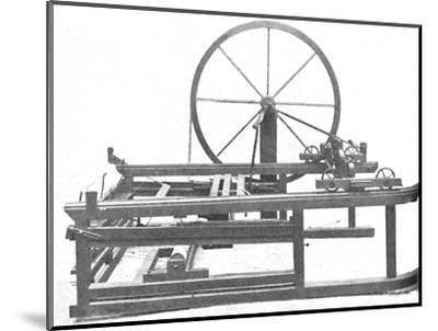 'The Ingenious Spinning Jenny Invented by James Hargreaves', c1925-Unknown-Mounted Photographic Print