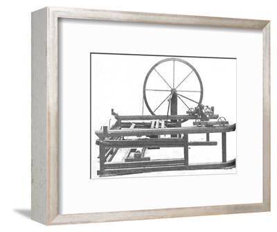 'The Ingenious Spinning Jenny Invented by James Hargreaves', c1925-Unknown-Framed Photographic Print