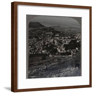 'Nazareth and the Mount of Precipitation', c1900-Unknown-Framed Photographic Print
