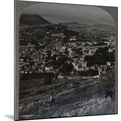 'Nazareth and the Mount of Precipitation', c1900-Unknown-Mounted Photographic Print