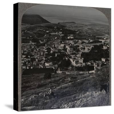 'Nazareth and the Mount of Precipitation', c1900-Unknown-Stretched Canvas Print