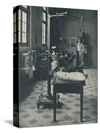 'Crookes, Rontgen and Finsen - Using the Marvellous X-Rays Apparatus', c1925-Unknown-Stretched Canvas Print
