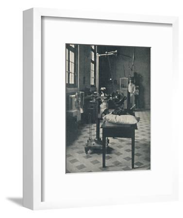 'Crookes, Rontgen and Finsen - Using the Marvellous X-Rays Apparatus', c1925-Unknown-Framed Photographic Print