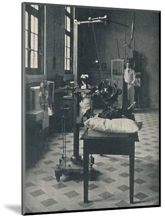 'Crookes, Rontgen and Finsen - Using the Marvellous X-Rays Apparatus', c1925-Unknown-Mounted Photographic Print