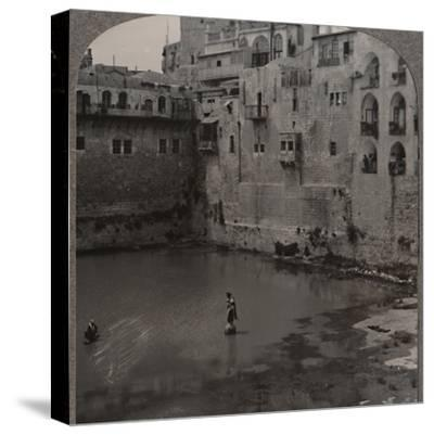 'The Pool of Hezekiah, Jerusalem', c1900-Unknown-Stretched Canvas Print