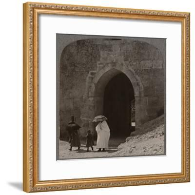 'Mahommedan women entering Jerusalem by Herod's Gate', c1900-Unknown-Framed Photographic Print