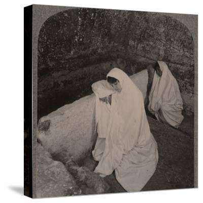 'Interior of the Tomb of Christ, c1900-Unknown-Stretched Canvas Print