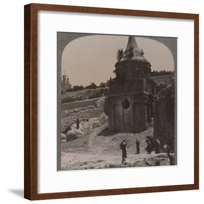 'The Tomb of Absalom in the Valley of Jehosaphat', c1900-Unknown-Framed Photographic Print