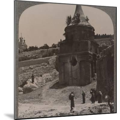 'The Tomb of Absalom in the Valley of Jehosaphat', c1900-Unknown-Mounted Photographic Print
