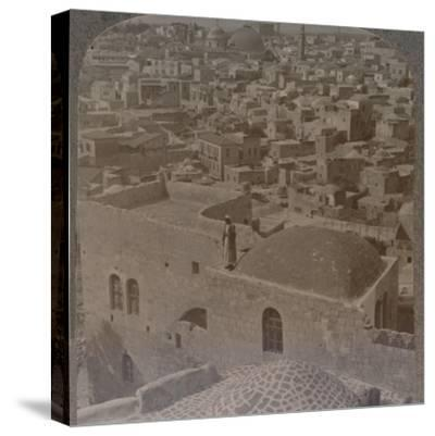 'Moslem quarter of Jerusalem, from the English School', c1900-Unknown-Stretched Canvas Print