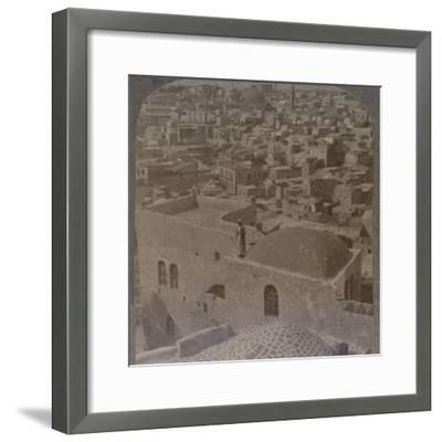 'Moslem quarter of Jerusalem, from the English School', c1900-Unknown-Framed Photographic Print