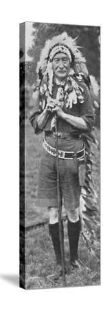 'Sir Robert Baden-Powell, arrayed in the dress of a Red Indian tribe', c1925-Unknown-Stretched Canvas Print