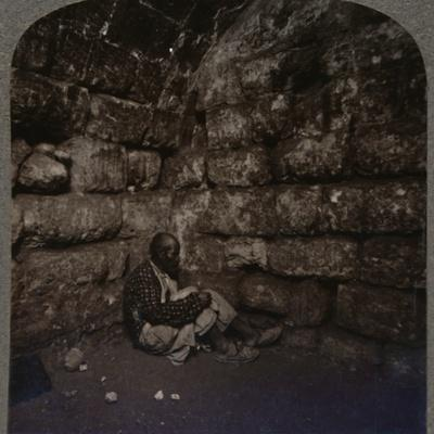 'Interior of the Tomb of Lazarus', c1900-Unknown-Framed Photographic Print
