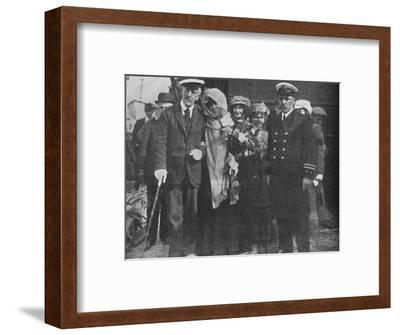 'Sir Squire Bancroft and Madame Sarah Bernhardt', c1925-Unknown-Framed Photographic Print