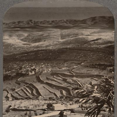 'From Olivet to the Dead Sea, across 40 miles of waste', c1900-Unknown-Framed Photographic Print