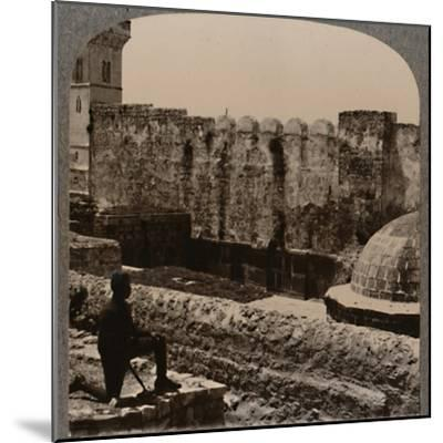'Mosque Machpela', c1900-Unknown-Mounted Photographic Print