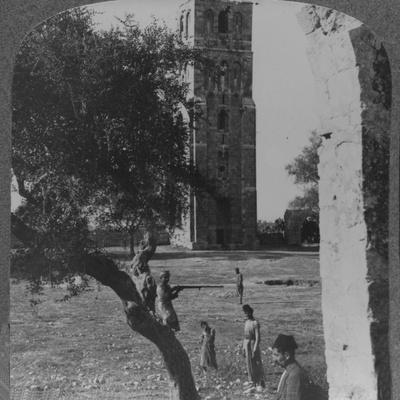 'The Tower at Ramleh, said to be the minaret of a large Mosque', c1900-Unknown-Framed Photographic Print