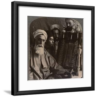 'The Samaritan High Priest as Pedagogue', c1900-Unknown-Framed Photographic Print