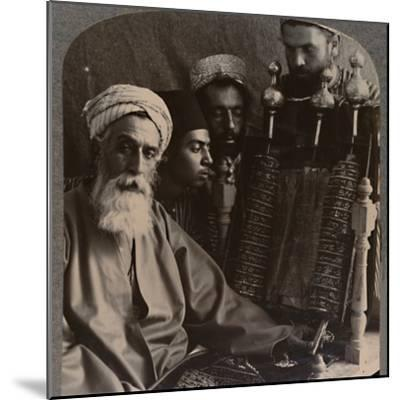 'The Samaritan High Priest as Pedagogue', c1900-Unknown-Mounted Photographic Print