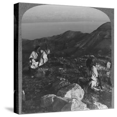 'Across the Dead Sea from Machaerus', c1900-Unknown-Stretched Canvas Print