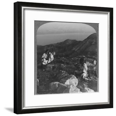 'Across the Dead Sea from Machaerus', c1900-Unknown-Framed Photographic Print