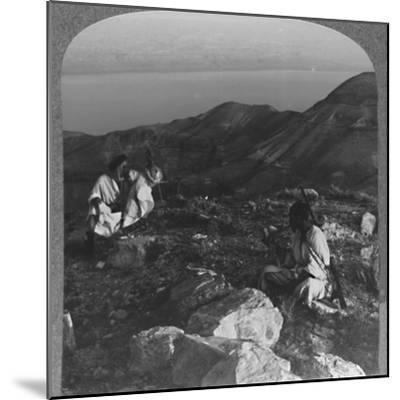 'Across the Dead Sea from Machaerus', c1900-Unknown-Mounted Photographic Print