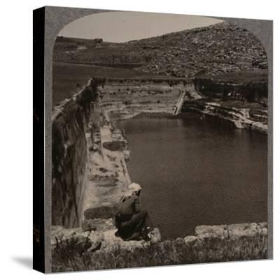 'One of the Pools of Solomon', c1900-Unknown-Stretched Canvas Print