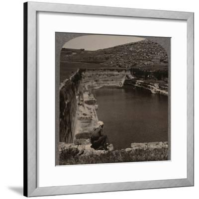 'One of the Pools of Solomon', c1900-Unknown-Framed Photographic Print