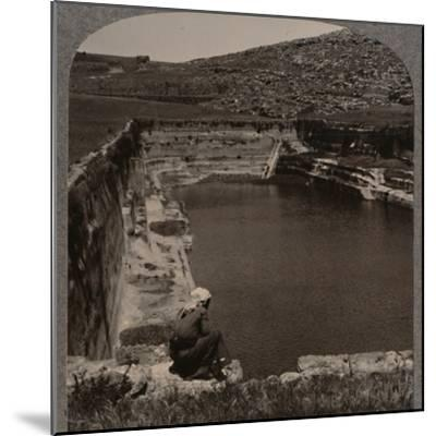 'One of the Pools of Solomon', c1900-Unknown-Mounted Photographic Print